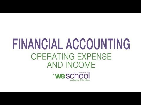 Difference between Operating Income & Operating Expenses