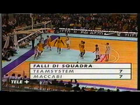 1998 Euroleague G3 Winnington Fortitudo vs Maccabi Tel Aviv