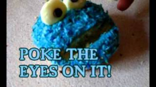 How to Make Cookie Monster Cupcakes! Best on YouTube