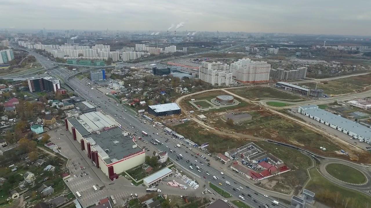 Фантом 3 полеты в программе Литчи с антенным отражателем Мкад и Немчиновка .