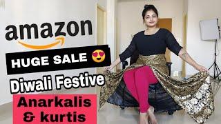 BIGGEST AMAZON Festive Kurti Haul   New Designer Kurti Haul   Diwali Kurtis   Amazon Kurti Haul