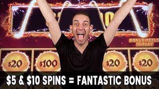 😱 $5-$10 Spins = Fantastic BONUS 🥁 Dancing Drums EXPLOSION!!!