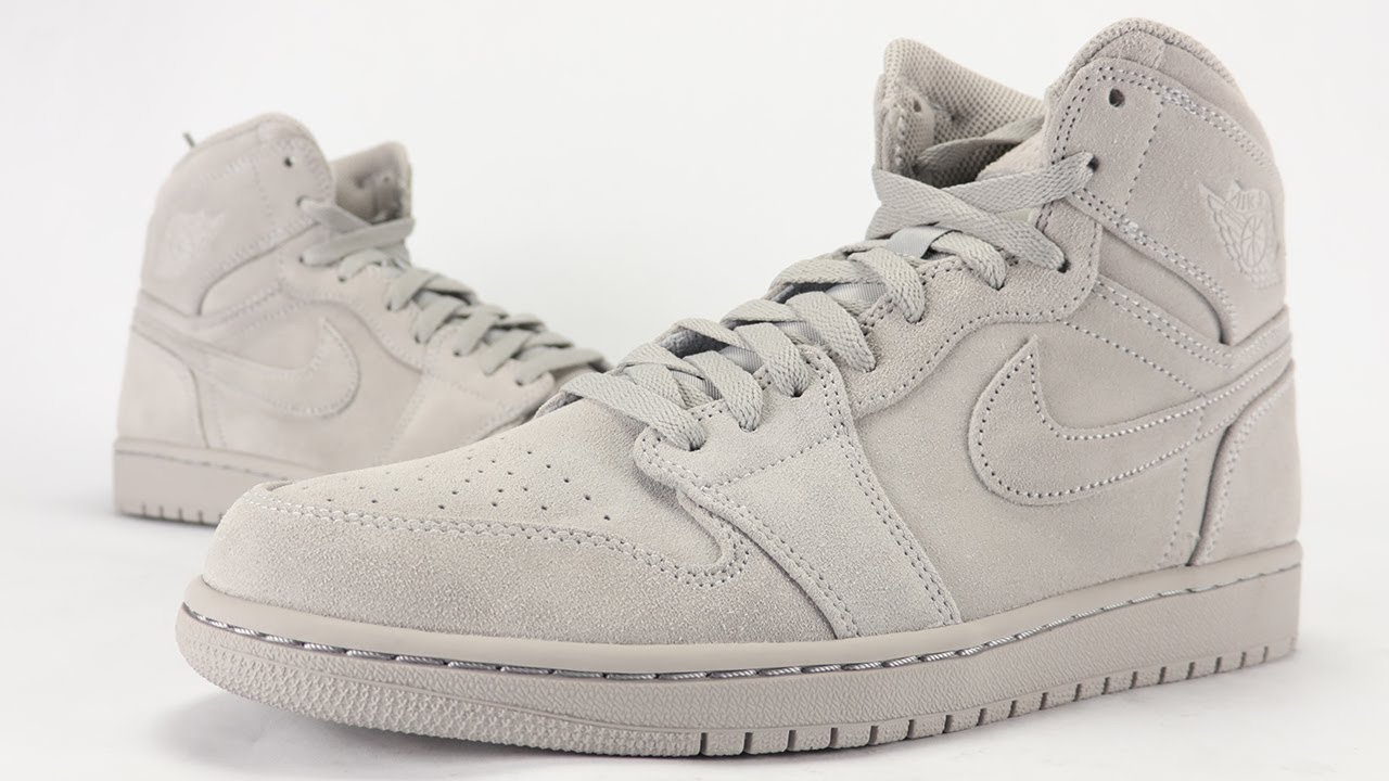 4df459e38ae Air Jordan 1 Grey Suede Review + On Feet - YouTube