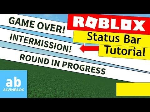Roblox Status Bar Tutorial - Make An Intermission Bar!