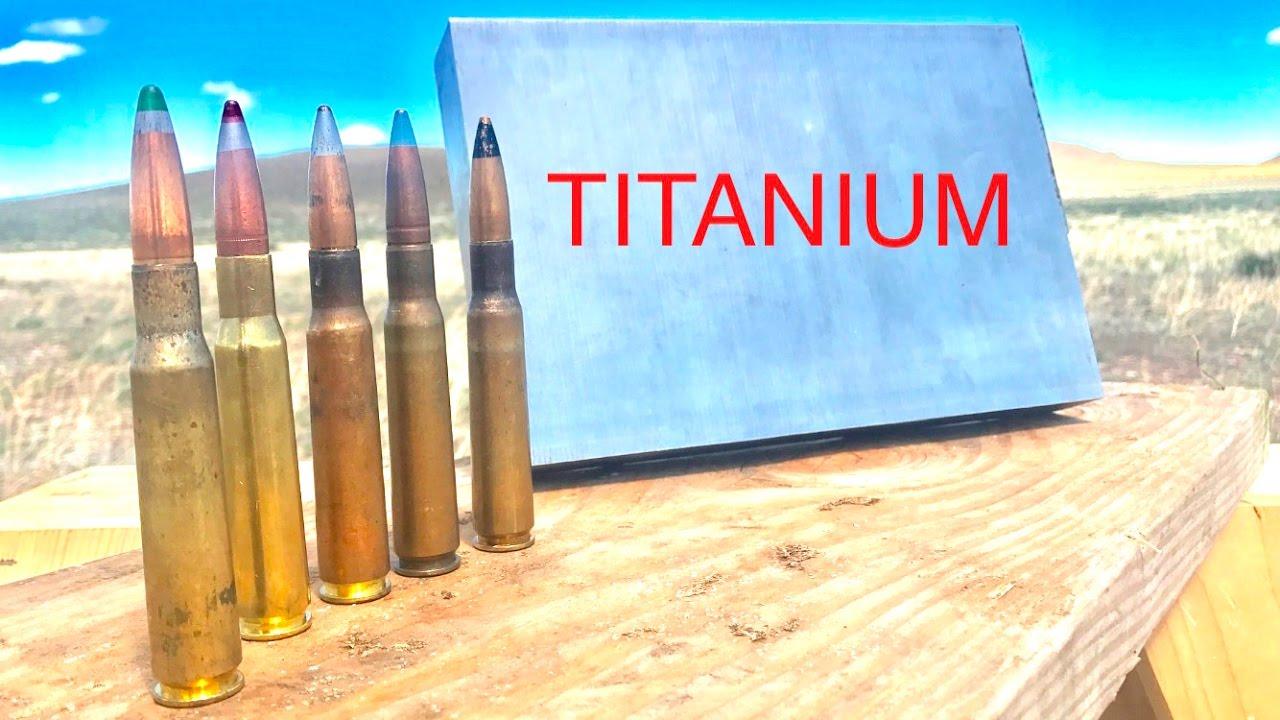 HOW STRONG IS TITANIUM? 50CAL VS TITANIUM - YouTube