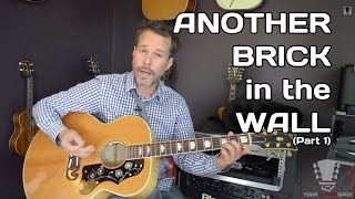 Another Brick in the Wall by Pink Floyd Part 1 Guitar Lesson