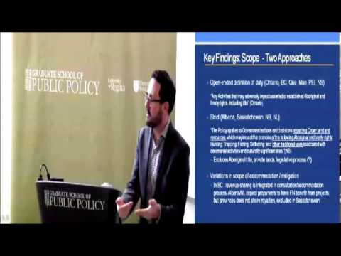 JSGS Public Lecture: Implementing the Duty to Consult