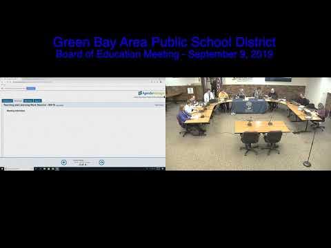 GBAPSD Board Meeting of Education Meeting: September 9, 2019