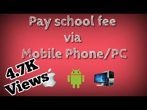 How to pay school fees online || via mobile phone || PC, Android, iPhone