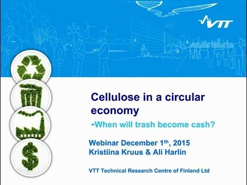 VTT WEBINAR: Cellulose in a circular economy - When will trash become cash?