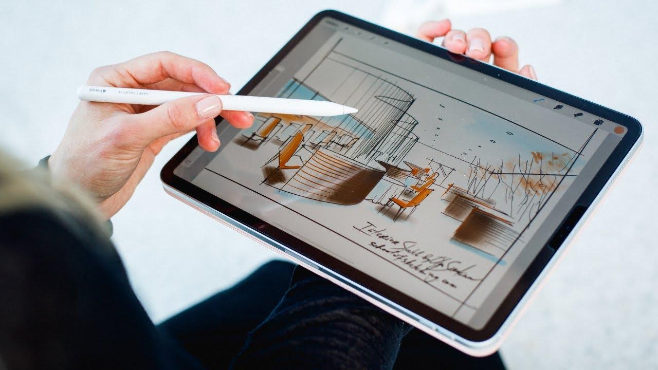 Мой первый скетч в Procreate: интерьерный скетчинг на iPad pro