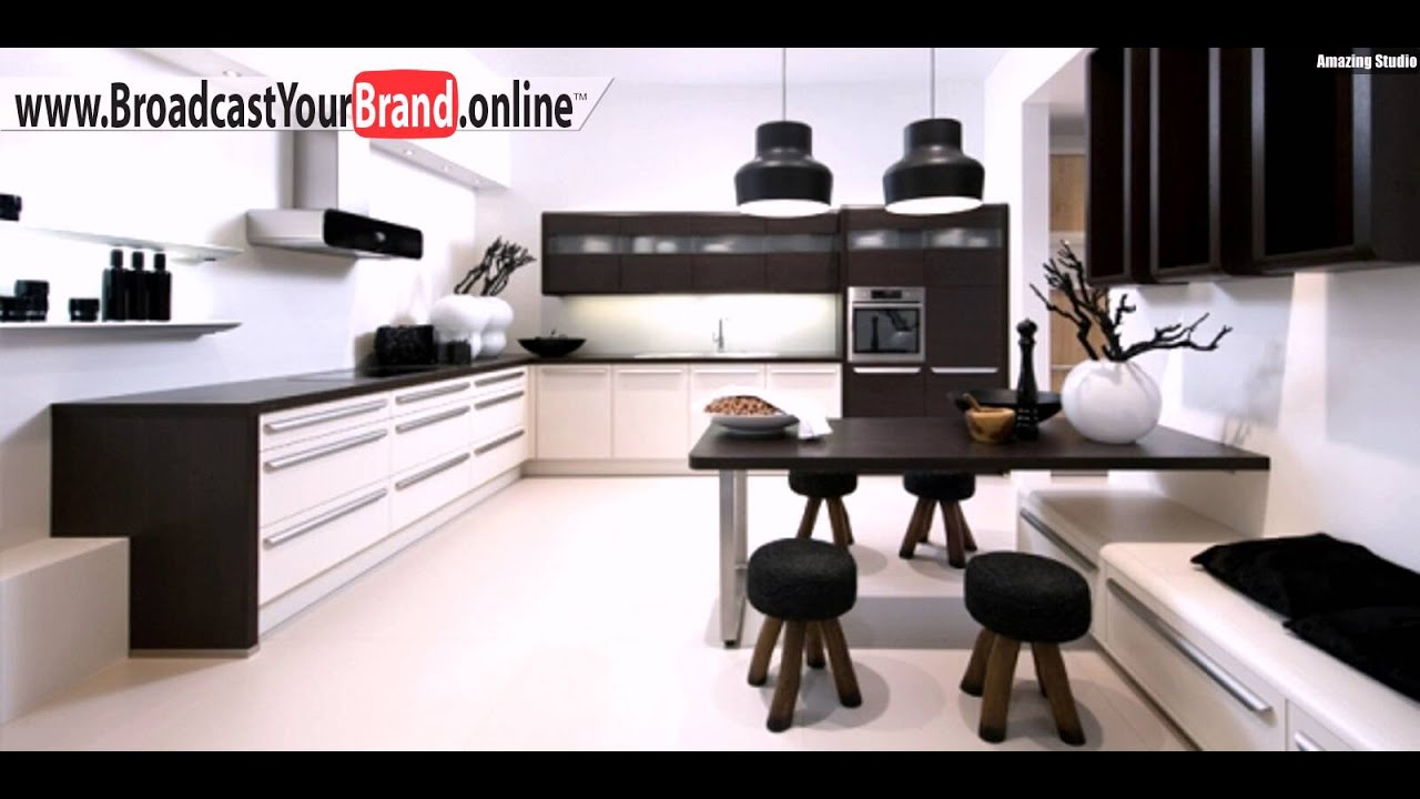 schwarz wei kombi moderne designer k chen von nolte youtube. Black Bedroom Furniture Sets. Home Design Ideas