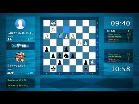 Chess Game Analysis: Marcelacanta - NunNaunet : 0-1 (By ChessFriends.com)Kaynak: YouTube · Süre: 5 dakika47 saniye