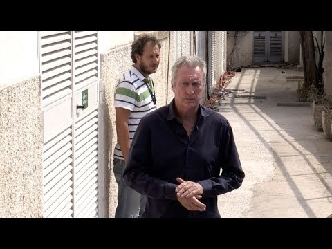 Sam Neill and Bryan Brown arriving at Sweet Country press conference at 2017 Venice Film Festival