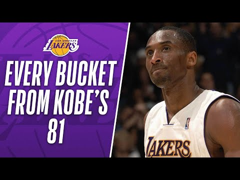 EVERY BUCKET From Kobe Bryant's 81-PT Performance!