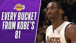 Watch All of Kobes 81 Points in 3 Minutes