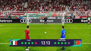 PES 2021 Italy vs Portugal Penalty Shootout Gameplay PC C Ronaldo vs Italy