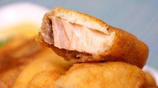 Рыба в кляре! Кета, жареная в кляре! Рецепт кляра для рыбы!