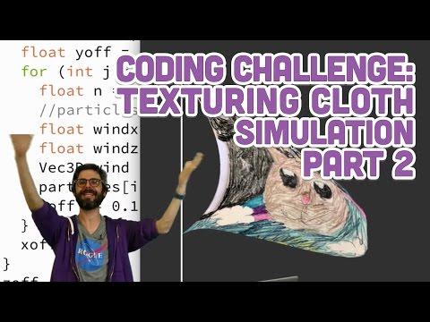Coding Challenge #63.2: Texturing Cloth Simulation Part 2
