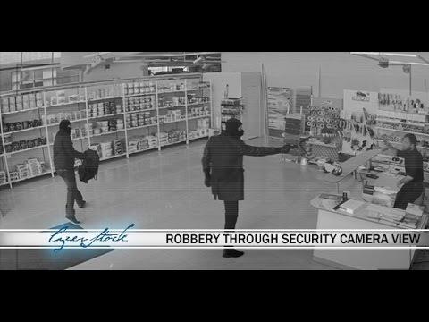 Burglar Robbery Through Security Camera View | Stock Footage - Videohive