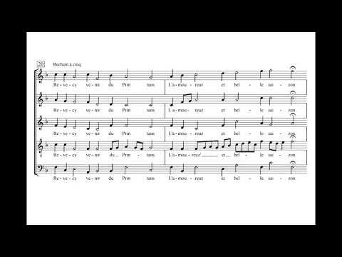 Revecy venir du Printans (Le Printemps - C. Le Jeune) Score Animation
