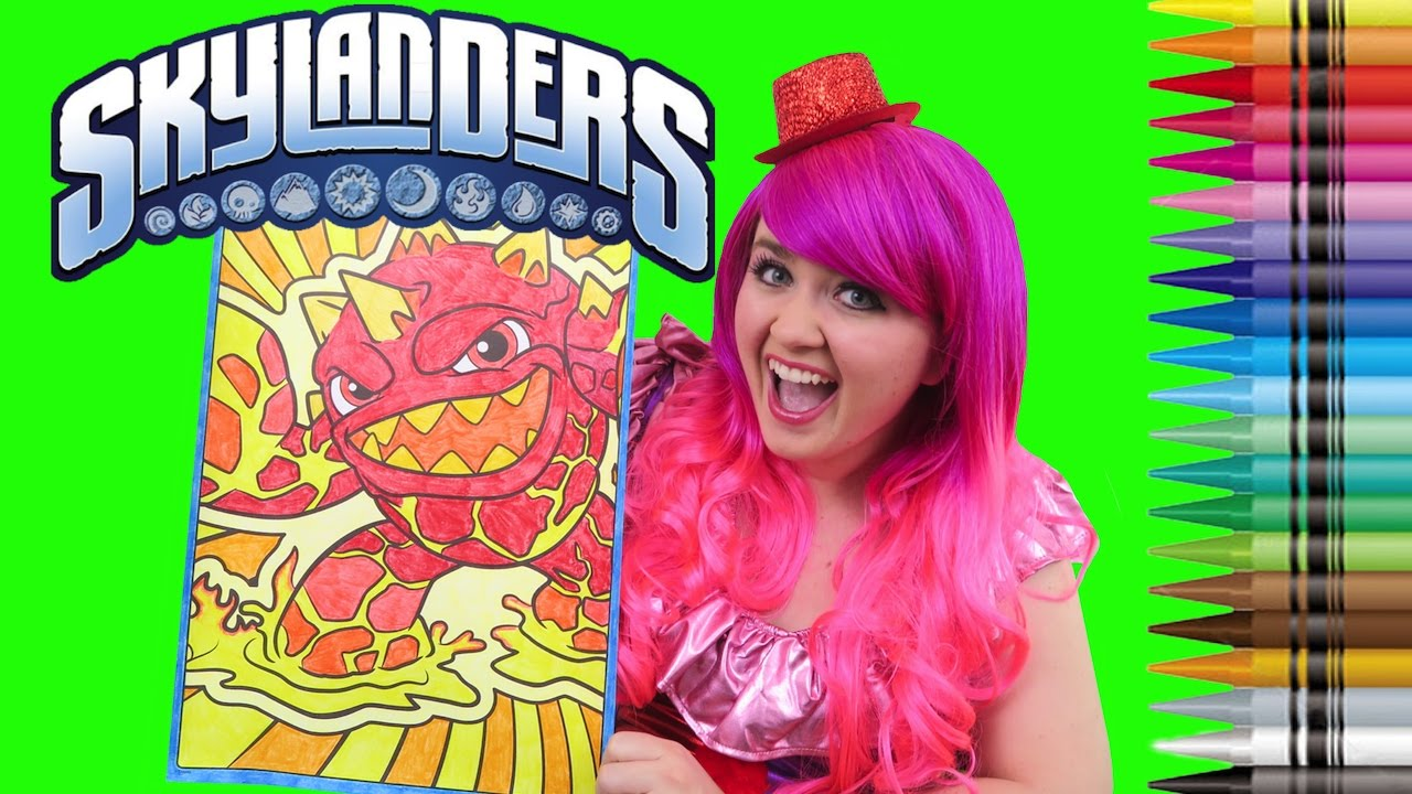 Coloring Eruptor Skylanders GIANT Coloring Book Page Crayola Crayons |  COLORING WITH KiMMi THE CLOWN