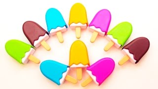 Learn Colors and Numbers 1 to 10 with Play-Doh Squishy Glitter Foam Smiley Face Popsicle Ice Cream