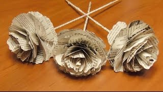DIY Розы из газеты своими руками. Цветы из бумаги. Мастер класс  Roses from newspapers(Сегодня я расскажу вам как сделать розы из обычных газет. Можно сделать оригинальный букет своими руками..., 2014-10-28T11:15:00.000Z)