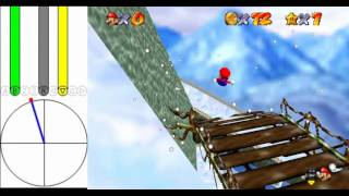 "Super Mario 64 [TAS] - Frosty Slide for 8 Red Coins (35""07)"