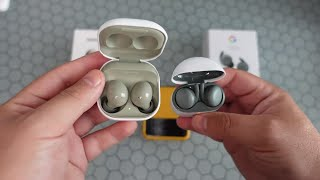 Samsung Galaxy Buds 2 Vs Pixel Buds A Series   Green With Envy  