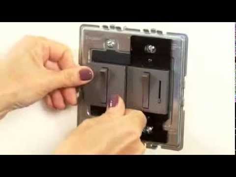 how to install a legrand adorne dimmer switch youtube. Black Bedroom Furniture Sets. Home Design Ideas