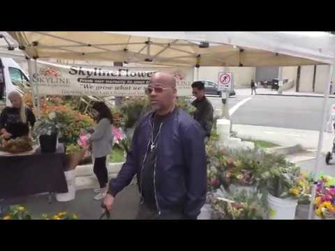 Damon Dash and Rachel Roy talks about their new projects while shopping at the Farmer's Market in St