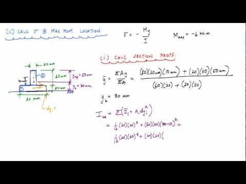Normal Stress Due to Bending Example (1/2) - Mechanics of Materials
