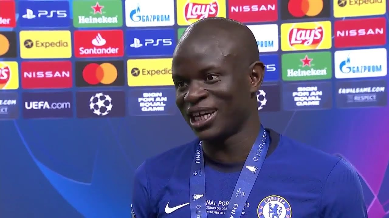 Download N'Golo Kanté reacts to winning the UEFA Champions League.