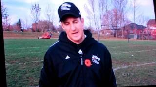 2011 Uxbridge Tigers Football featured on the evening news...