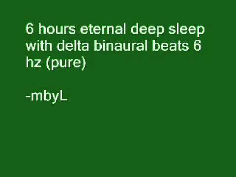 6 hours ultra deep sleep with delta binaural beats 3.5 hz (pure)