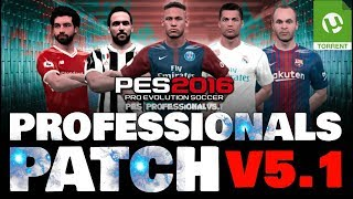 PROFESSIONALS PATCH V 5.1 DOWNLOAD PES 2016 PC