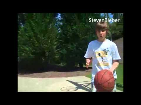 Rare old video of Justin Bieber playing Basketball
