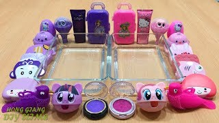 PURPLE Vs P NK  Mixing Random Things Into Clear Slime  Special Series Satisfying Slime Videos 16