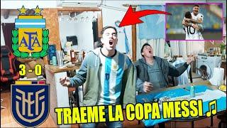 🔥 ARGENTINA 3 ECUADOR 0 💪 REACCIONES DE HINCHAS ARGENTINOS - COPA AMERICA 2021