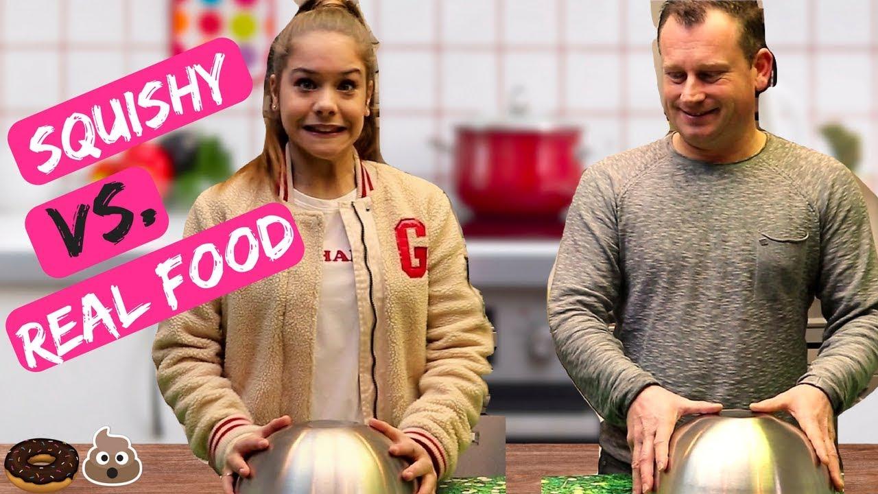 Squishy Versus Real Challenge : SQUISHY VS. REAL FOOD CHALLENGE Emma Keuven - YouTube