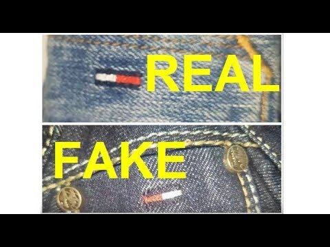 Real Vs. Fake Tommy Hilfiger Jeans. How To Spot Fake Tommy Jeans.