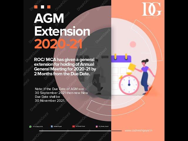 AGM Extension - Quick Discussion