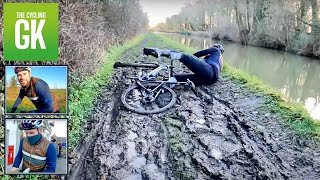 He Nearly Fell In The CANAL! Muddy Gravel Ride! | Ben Foster - TheCyclingGK