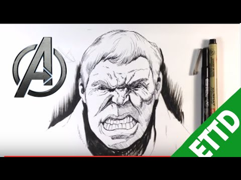how to draw hulk easy