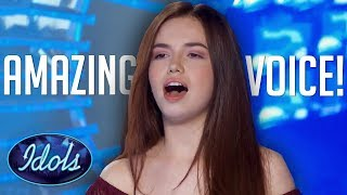 Download Video 15 YEAR OLD SINGER MARA JUSTINE Blows The Roof Off The American Idol Audition Room! Idols Global MP3 3GP MP4