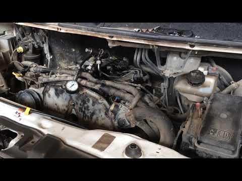 часть 5 Форд Транзит 2.4d 2008г замер компрессии 1и2 цилиндра