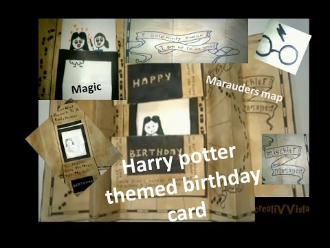 Diy harry potter themed birthday card ii marauders map ii magic card diy harry potter themed birthday card ii marauders map ii magic card bookmarktalkfo Images