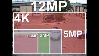 12MP vs 4K vs 5MP vs 2MP CCTV camera real footage