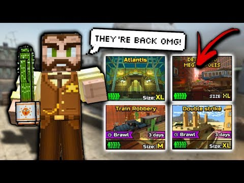 OLD MAPS HAVE RETURNED!!!   Pixel Gun 3D - New Update 15.5.0 [Review]